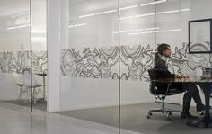 In your home, make your office with glass rather than wall.