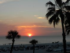 Beautiful sunset from Tradewinds Resort on St Pete's Beach, Florida