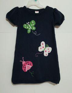 Gymboree Girl's Size 5 Blue Butterfly Sweater Dress  #Gymboree #EverydayBacktoschool