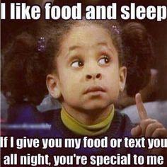 Food and sleep ♥