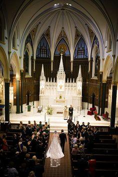 A classic church wedding ceremony | Brides.com