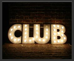 Electro Signs - Sign Hire - CLUB - Bulb Sign - Size : 5' x 18""