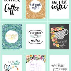 In which I round up 180+ coffee free printables from all corners of the Internet. If you're a caffeine fiend looking for art, you've found the motherlode.