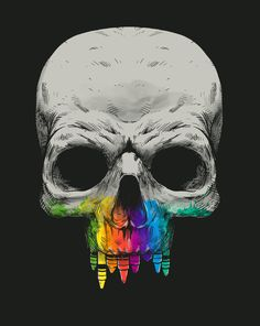 Many Colors of Death - Skullspiration.com - skull designs, art, fashion and more