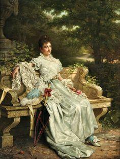 Бельгийский художник Jan Frederik Pieter Portielje (1826-1895)
