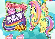 Fluttershy en Rainbow Power Style