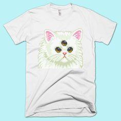 Cyber Cat T-Shirt | Unisex S- XXL | Tumblr Cute Cool Kawaii Seapunk Clothing Cyber Vaporwave
