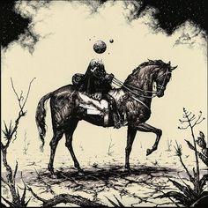 """World Traveler"" by Esao Andrews."