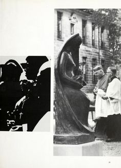 1970 University of Detroit Tower Yearbook Dedication of Black Madonna Statue