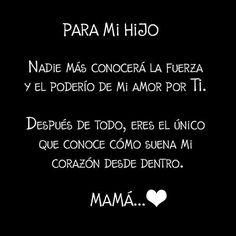 Para mi hijo, feliz día mamá