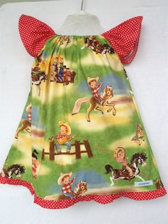 GIRLS DRESS- Cowboys and cowgirls- size 1,2 or 3