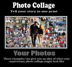 items similar to year anniversary collage wedding anniversary photo collage custom wedding anniversary picture collage ideas anniversary on etsy