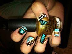 Carol Ri  Vodpod: Very Pretty Tribal Nails #Lockerz