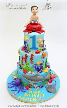 Sea World Theme Cake by D Cake Creations