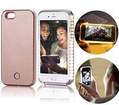 iPhone 6 6S Selfie Lumière Coque iPhone 6 6S LED PC Plastique Cover Dur Case Absorbant les chocs résistant aux rayures Housse?Vandot…