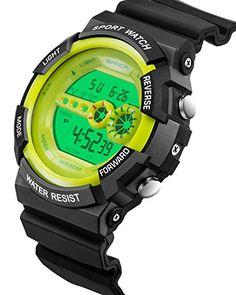 43e43783945a Sanda Mens Watches Digital Sports Military Outdoors Big Face Wristwatch  Black