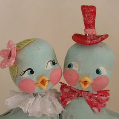 Lovebirds. a Vintage Valentine inspired by thepolkadotpixie