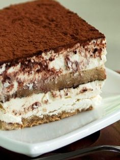 Tiramisu - With the accent of chocolate and coffee, this famous dessert can be enjoyed with or without the preceding plate of pasta. Besides being a creamy, rich follow-up, this sweet treat can be presented at any occasion. Impress your guests!