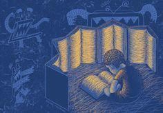Michał Firkowski on Behance Shelter, Books To Read, Behance, Technology, Reading, Illustration, Movies, Movie Posters, Art