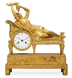 A French Empire early 19th Century mantel clock