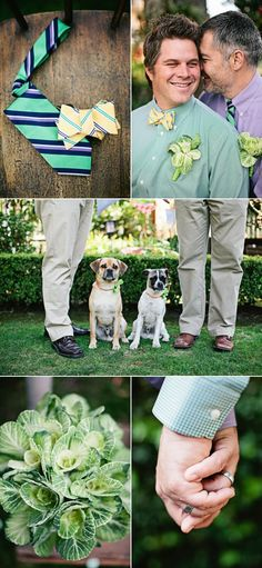 Not only did these duesd have an awesome wedding they have my dog. gay weddings | Gay wedding photo | wedding