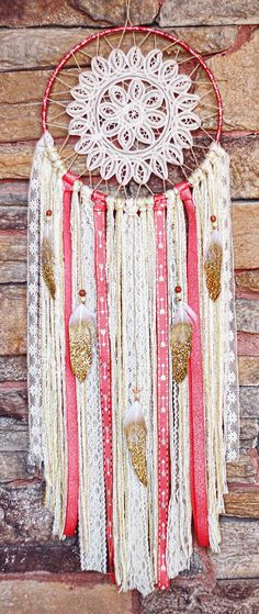 A personal favorite from my Etsy shop https://www.etsy.com/listing/248278873/bohemian-doily-dreamcatcher-follow-your