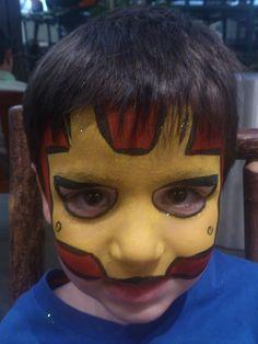 DIY Iron Man Face Paint.  #FacePainting