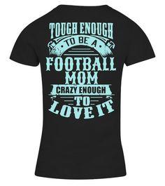 b6337c55 Tough Football Mom - V-neck T-Shirt Woman #Shirts #TShirts Mom