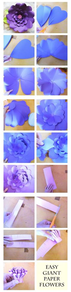 "Mesa de regalos … ""Giant Paper Flower Tutorial with Templates, DIY paper flowers, Tutorials, Flower S Easy Paper Flowers, Paper Flower Tutorial, Paper Flower Backdrop, Diy Flowers, Fabric Flowers, Flower Paper, Flower Diy, Flower Wall, Heart Flower"