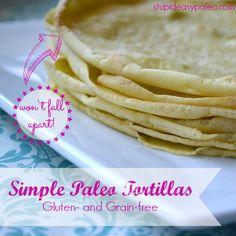 Paleo tortillas - gotta get me some Arrowroot flour
