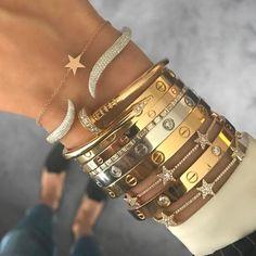 10 Best Bangle Bracelets - Need a simple stack? We made the best of 10 bangle bracelets to accessorize for 20 - Cartier Bracelet, Diamond Bracelets, Love Bracelets, Bangle Bracelets, Bangles, Silver Bracelets, Cartier Jewelry, Cartier Love Ring, Cute Jewelry
