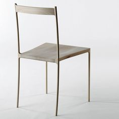 looks frageely...haha...but Japanese designers Nendo have created a chair made of hollowed-out pieces of wood covering a metal frame.