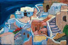 Image result for oia art gallery Greek Islands, Santorini, Art Gallery, Paintings, Greece, Houses, Image, Google Search, Greek Isles