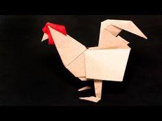 折り紙のオンドリ - YouTube