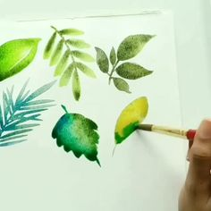 Precious Tips for Outdoor Gardens In general, almost half of the houses in the world… Watercolor Flowers Tutorial, Watercolor Leaves, Watercolour Tutorials, Plants Watercolor, Watercolor Art Lessons, Watercolor Paintings For Beginners, Watercolor Techniques, Flower Art, Art Paintings