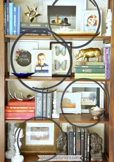 style a bookcase by putting some horizontally and using decor - Bookshelf Decor