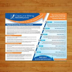 Lead Magnet Design We are a medical billing company. We file insurance claims for doctors and make sure they get paid. Lead Magnet, Medical Billing, Postcard Design, Marketing, Advertising, Doctors, Logo, Logos, Environmental Print
