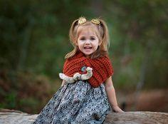 Crocheted Cowl for Girls - Crocheted Cowl for Toddlers - Toddler Cowl Crochet - Gifts for Girls - Chunky Crochet Wrap - Winter Warmer
