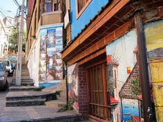 the Museo a Cielo Abierto (Open-Air Museum) in Valparaiso, Chile
