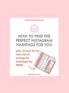 Are you struggling to find the best Instagram hashtags for your blog or business account? Well, your in luck! Click through for actionable tips and awesome advice - and don't forget to download my epic hashtag list for FREE!