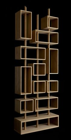 Oak book case by Drugeot Labo