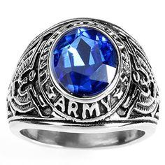 Biker Men's Stainless Steel Blue Cz Hawk Eagle US Army Ri... http://www.amazon.com/dp/B01E00KG2W/ref=cm_sw_r_pi_dp_paehxb0F2TRXC