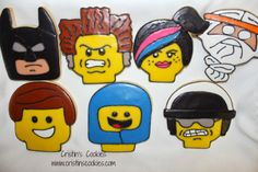 Cristin's Cookies: Lego Cookies and Vacation Lego Cookies, Cake Cookies, Cupcakes, Kinds Of Cookies, Cut Out Cookies, Lego Movie Cake, Lego Movie Characters, Boy Birthday, Birthday Parties