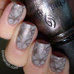 Nail art // Stampicure using China Glaze Wood You Wanna?