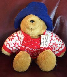 86a6306178e Vintage Holiday Christmas Sweater Paddington Bear Plush Stuffed Animal
