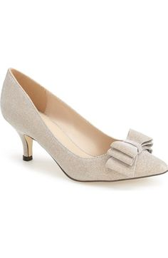 Menbur 'Glitter' Bow Pump (Women) available at #Nordstrom