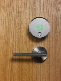 August Smart Lock Turns Your Phone Into House Keys - Design Milk Magazine Design, Wabi Sabi, August Smart Lock, Architecture Design, Smart Home Control, Smart Door Locks, Smartphone, House Keys, Home Tech