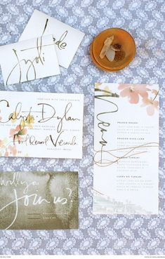 Gorgeous stationery by Julie Son Ink | Photograph by Bianca Rijkenbarg | Styled Shoot