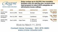 Regentsevenseascruises savings free business air free land program