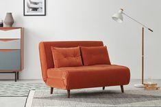Single Sofa Bed Chair, Single Couch, Velvet Sofa Bed, Chesterfield Sofa Bed, Cheap Sofa Beds, Cheap Sofas, Diy Sofa, Sofa Design, Sofa Bed Orange